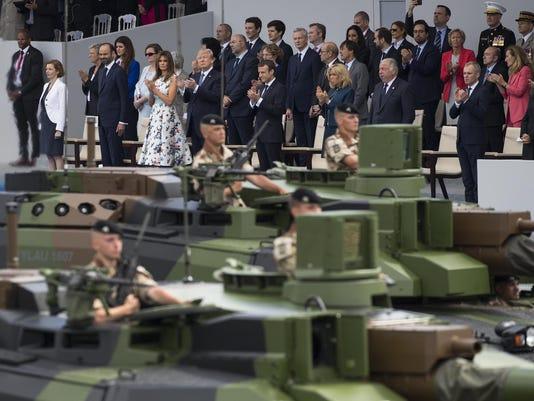 Donald Trump,Emmanuel Macron,Brigitte Macron,Melania Trump