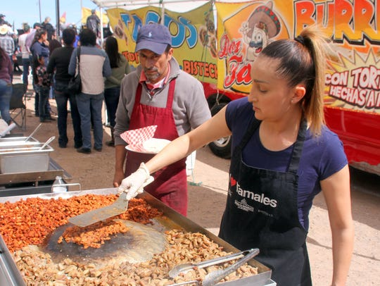 Food vendors were kept busy on Saturday during the