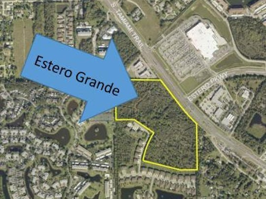The Estero Grande project would be a commercial and residential development across the street from Estero's Wal-Mart.