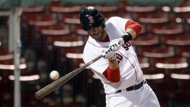 J.D. Martinez returned to the Red Sox lineup Thursday.