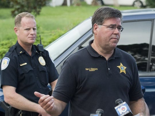 St. Lucie County Sheriff Ken Mascara gives an update to the press June 12, 2016 about searching the home of Orlando nightclub shooter Omar Mateen at Woodland Condominiums in Fort Pierce.