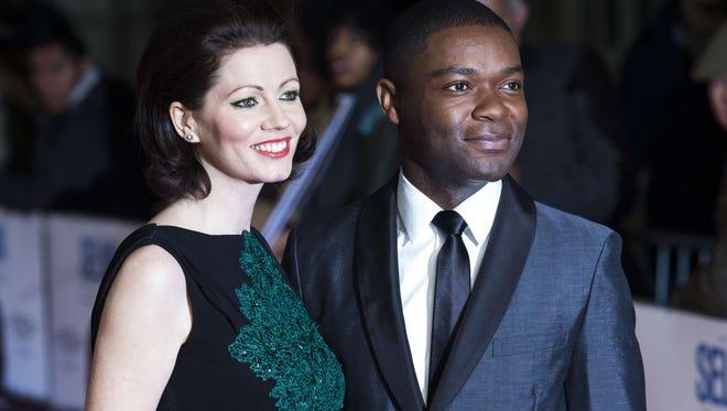 British actor David Oyelowo and his wife Jessica Oyelowo at premiere of 'Selma' in London on Jan. 27.