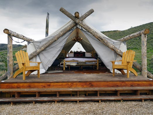 A guest tent at Collective Retreat's Vail location.