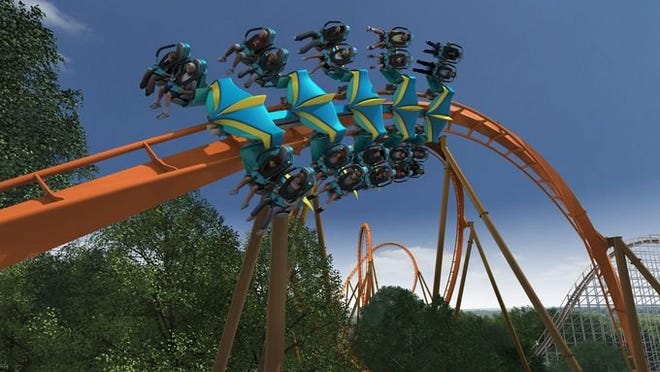 Thunderbird, Holiday World's first major steel roller coaster taking flight in 2015, will feature a 0-to-60 mph launch in 3.5 seconds. The track's multiple inversions include a 14-story Immelmann loop, Zero-g roll, barrel roll and a loop soaring 125 feet in the air.