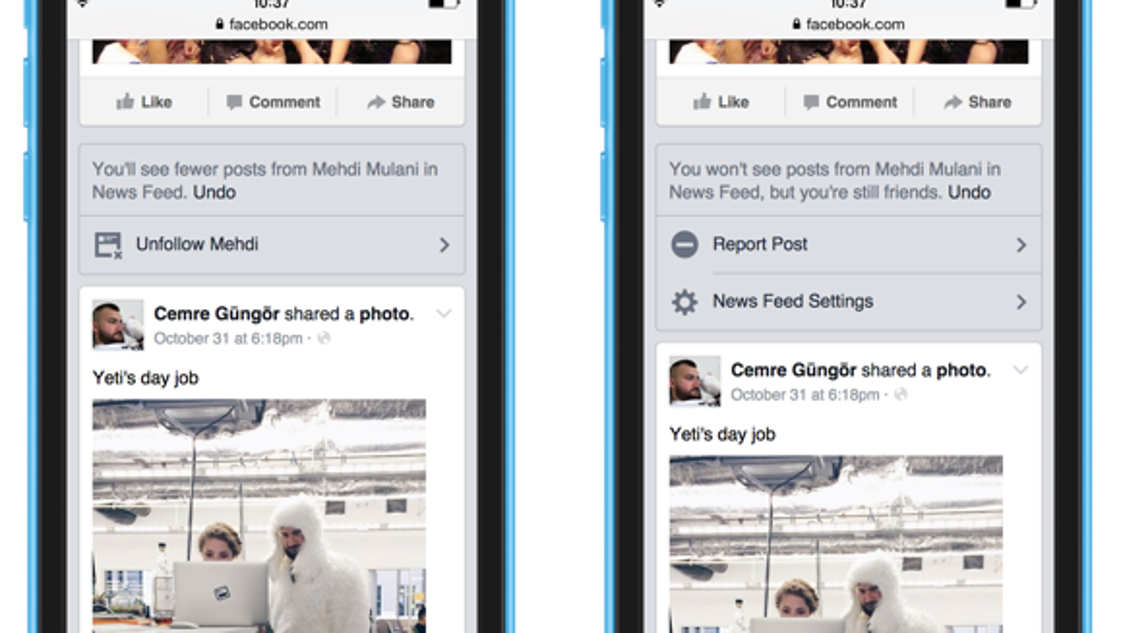 Facebook update offers more control of news feed