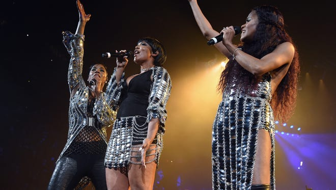 Pam, Keisha, and Kima of Total perform onstage during the Puff Daddy and The Family Bad Boy Reunion Tour presented by Ciroc Vodka And Live Nation at Barclays Center on May 20, 2016 in New York City.