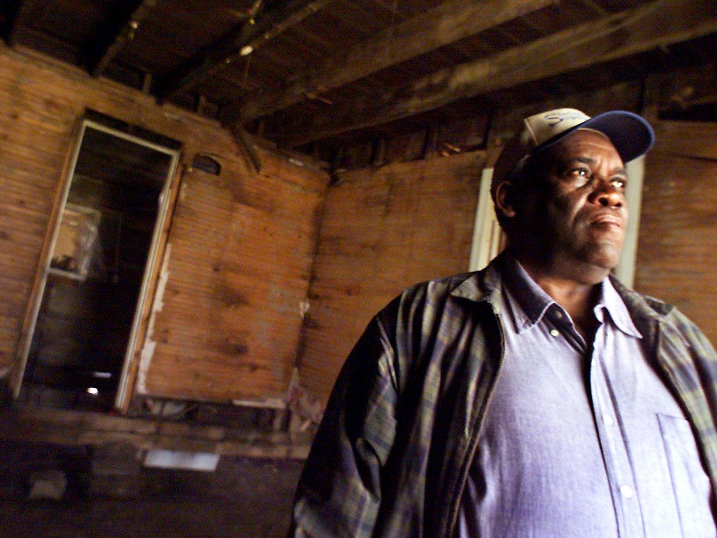 Harvey Matthews Sr. remembers when his grandfather Harvey McLemore use to baby-sit him in this house, which was renovated for Franklin's first African-American Museum, called the McLemore House.