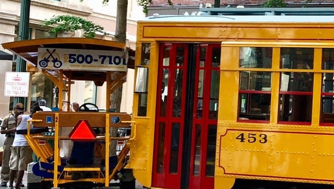 Main Street Trolley collided with Sprock n' Roll party bike on Main Street Mall Saturday