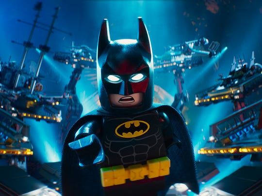 "Batman, voiced by Will Arnett, in a scene from ""The LEGO Batman Movie."""