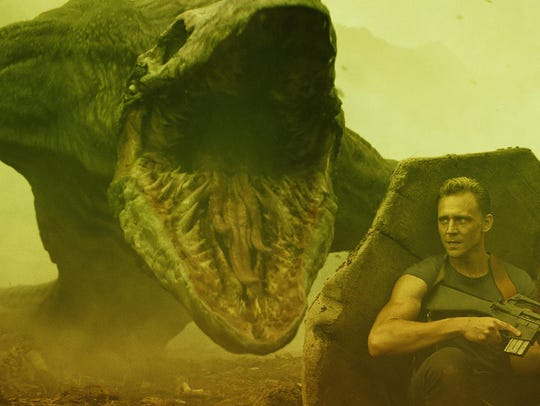 "Tom Hiddleston and Brie Larson in ""Kong: Skull Island."""