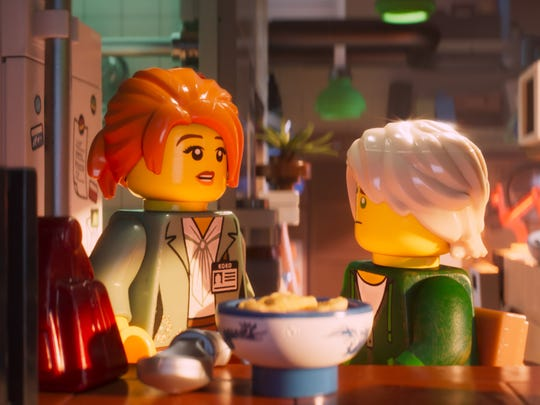 """Koko (left) and Lloyd are two characters in """"The LEGO"""