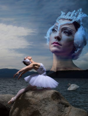 """Erica Chipp poses as the Swan Queen. Sierra Nevada Ballet performs """"Swan Lake"""" this month."""