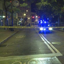 A man was stabbed to death near Woodruff Park in Downtown Atlanta