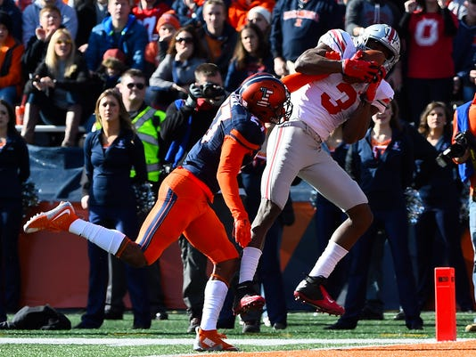 NCAA Football: Ohio State at Illinois