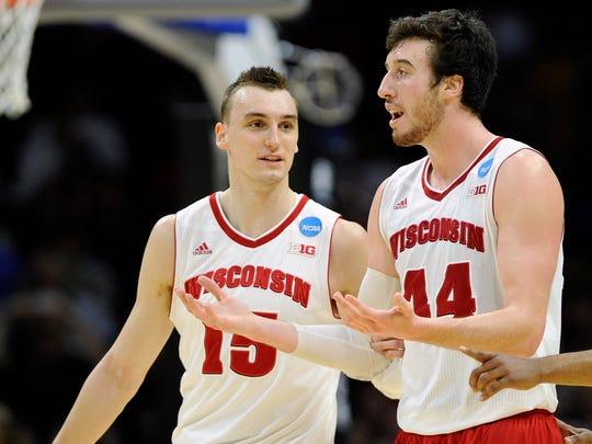 Sam Dekker, left, and forward Frank Kaminsky, helped Wisconsin reach consecutive NCAA Final Fours.
