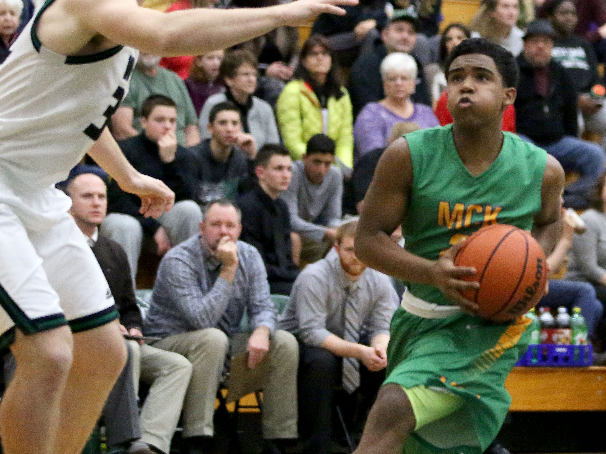 McKay's Demaris Bailey moves to the basket during their Greater Valley Conference game with West Salem on Friday.