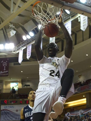 UCF center Tacko Fall was the American Athletic Conference Defensive Player of the Year.