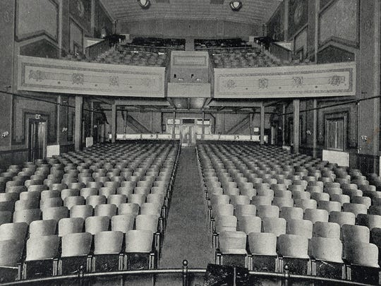 The view of the Rialto's interior from the front of the house.