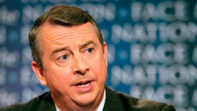 Ed Gillespie, the Republican U.S. Senate candidate from Virginia, appears on CBS' Sunday morning show Face the Nation.