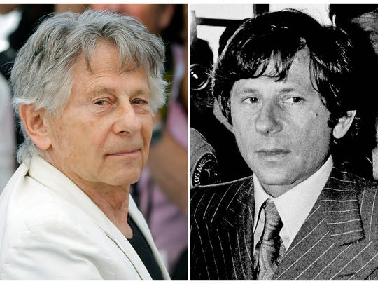 Director Roman Polanski on May 27, 2017, left, and