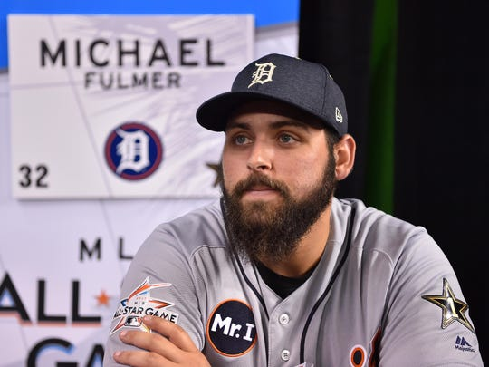 American League pitcher Michael Fulmer during a media