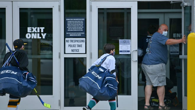 The Fidelity Bank Worcester Ice Center has reopened to skaters under the age of 18.
