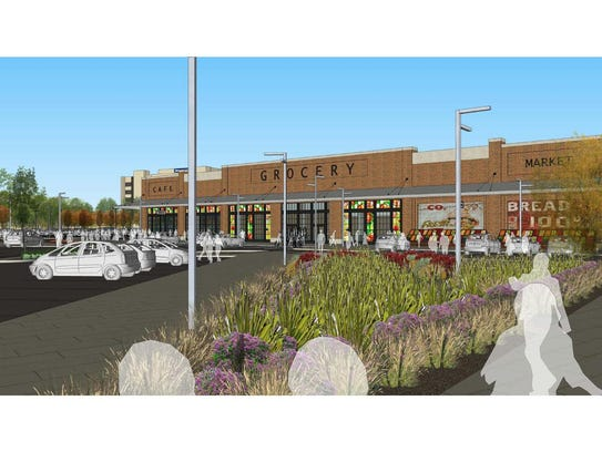 A rendering of the future Woodward Corners by Beaumont