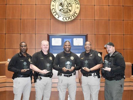 Shreveport City Marshal FBI-LEEDA Award Picture