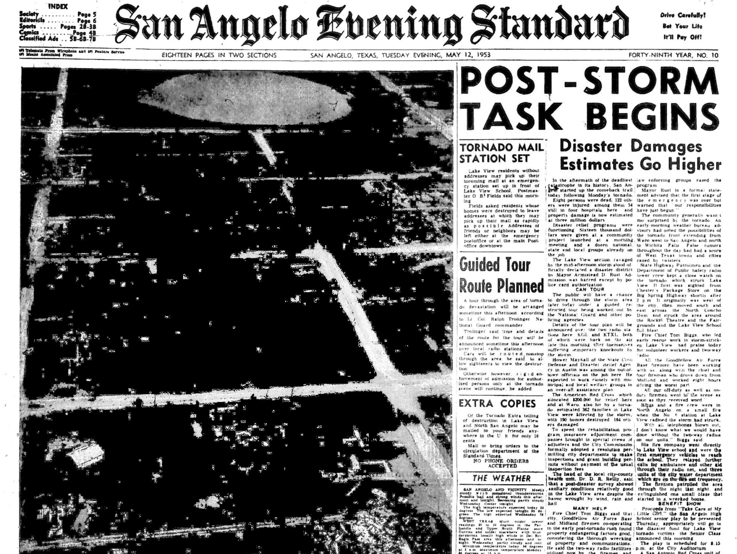 Front page May 1953.