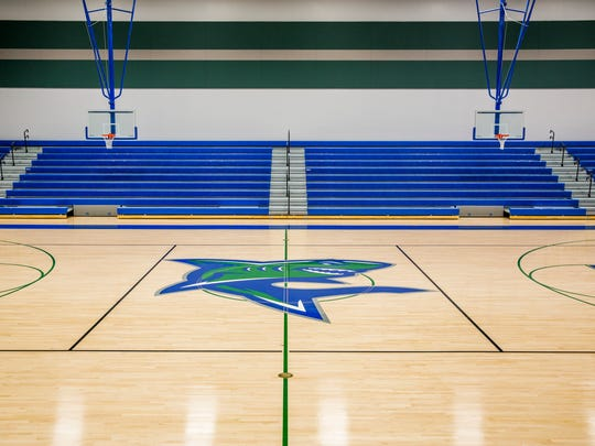 The gymnasium at the newly constructed Bonita Springs High School on Friday, July 20, 2018. Classes started on Aug. 10.