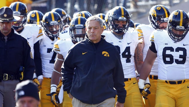 Iowa coach Kirk Ferentz has an undefeated team. So do two of his sons.