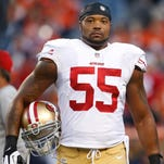 San Francisco 49ers linebacker Ahamd Brooks