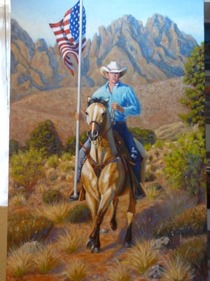 """Linda Hagen: Light Affects"" opens in the New Mexico Farm & Ranch Heritage Museum's Arts Corridor on Dec. 11, with a reception from 5:30 to 8 p.m. This is one of her creations, ""Home of the Brave."""