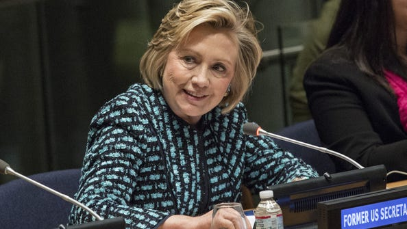 """NEW YORK, NY - MARCH 07:  Former United States Secretary of State Hillary Clinton attends the event """"Equality for Women is Progress for All"""" at the United Nations on March 7, 2014 in New York City. The event was part of the United Nations International Women's Day, which is celebrated tomorrow, March 8.  (Photo by Andrew Burton/Getty Images) ORG XMIT: 477466241 ORIG FILE ID: 477131601"""