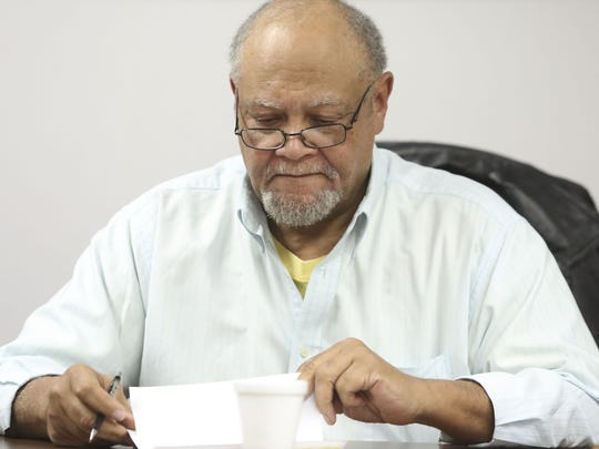 Carl Stansbury during a recent Wilmington Housing Authority board meeting at its Walnut Street headquarters.
