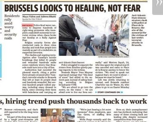 """Brussels looks to healing, not fear"""
