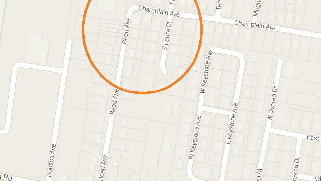 Location of the Saturday night stabbing.