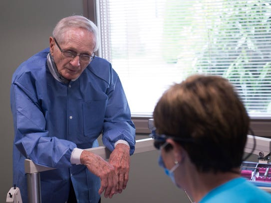 Dr. W.K. Manchette steps in for a visit to a longtime