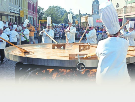 Abbeville hosts the Giant Omelette Celebration each