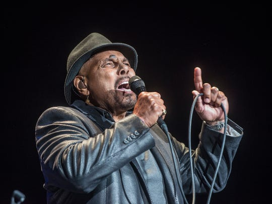 Aaron Neville performs with his quintet on Sunday,