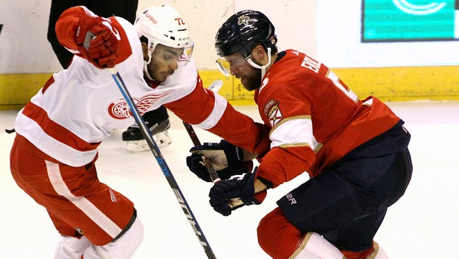 Andrea Athanasiou is getting back to normal with the Red Wings after holding out for most of the first month of the season.