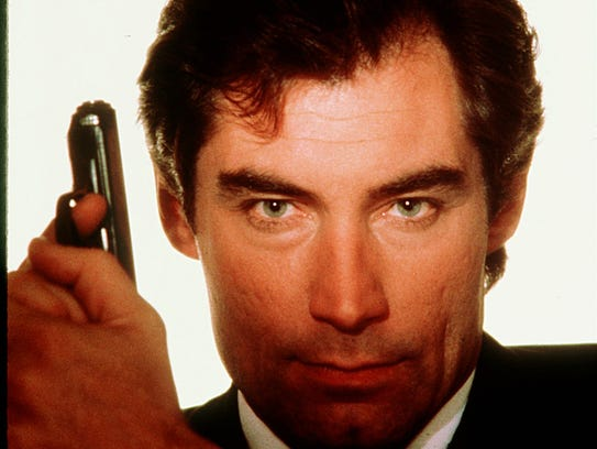 Timothy Dalton as James Bond.