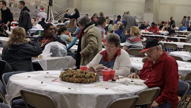 More than 600 volunteers and 1,000 guests will celebrate the season with a homemade Christmas dinner at Hilldale Baptist Family Life Center on Christmas Eve.