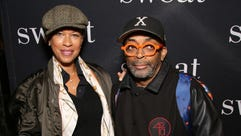 Tonya Lewis Lee and Spike Lee attend the Broadway Opening