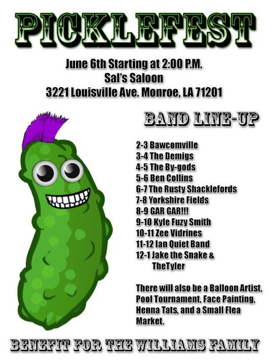 SATURDAY 66 PICKLEFEST - Benefit For The Williams Family