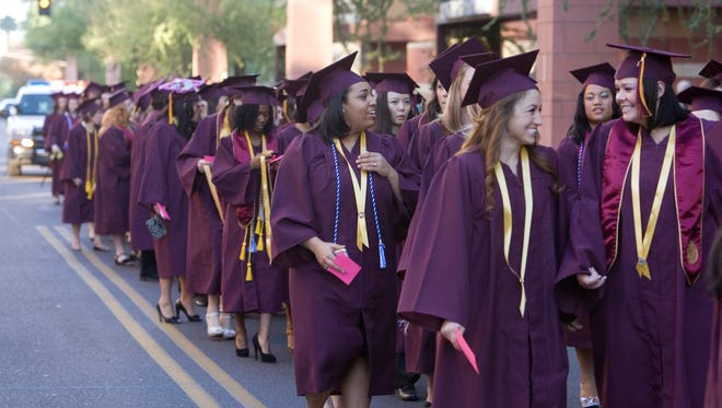 Graduate from ASU. Imagine how much they'd be smiling if they were debt free?