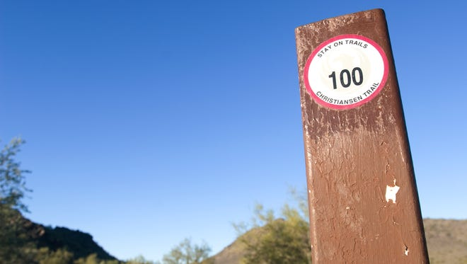 Trail 100 in the Phoenix Mountains Preserve  is a good hike for beginner hikers because the trail is wide and smooth.     It's been renamed the Charles Christiansen Trail.