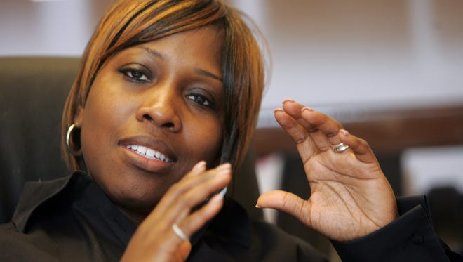 Former Principal Kenyetta Wilbourn-Snapp in 2010. She is one target of a federal corruption investigation involving Detroit Public Schools and the Education Achievement Authority.
