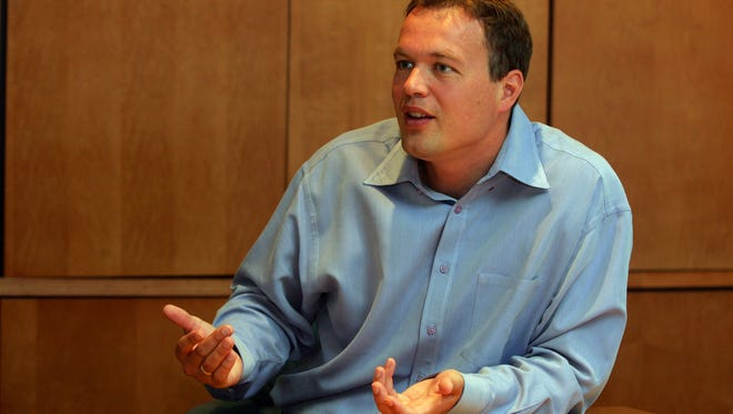 Simon Nynens, president and CEO of Wayside Technology Group in Shrewsbury, must decide if he wants to take a $2.6 million tax break and move to Oceanport instead of Arizona.