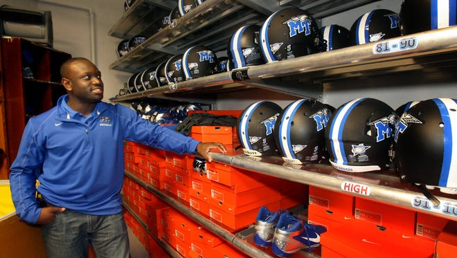 Kortne Gosha oversees logistics and equipment for MTSU, which will play in the Popeyes Bahamas Bowl later this week.